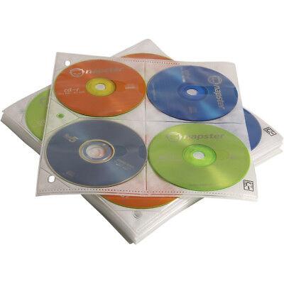 Case Logic 200 Capacity Cd Album Refill Pages - Slide Insert - Plastic - Clear