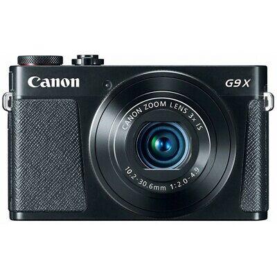 (NEW) Canon PowerShot G9X 20.2MP Digital Camera - Black (U.S. Model, Warranty)