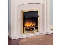 DIMPLEX ELECTRIC FIRE .CHOICE OF HEAT SETTING .SLOTS IN EXTISTING CHIMNEY HOLE