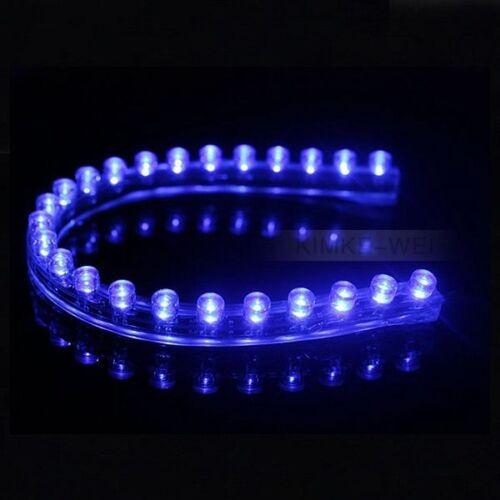 24cm Blue LED Flexible Neon Strip Light for Car or Van