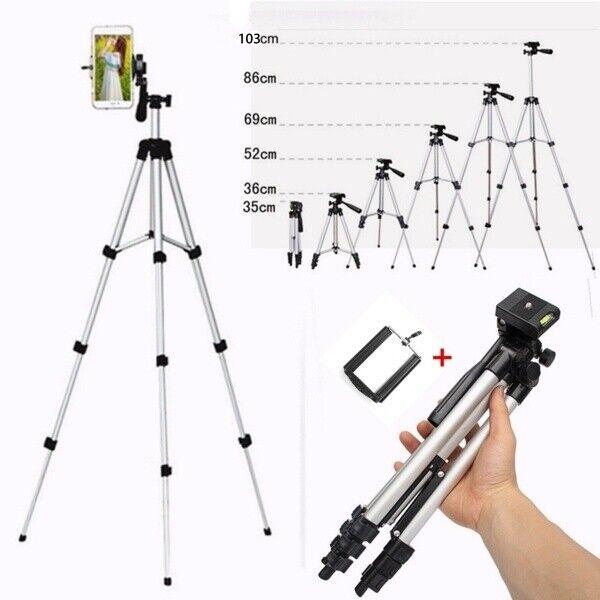 Pro Tripod Stand Digital Camera Camcorder Phone Mount Holder for iPhone Samsung