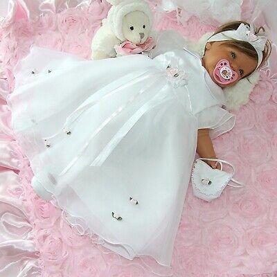 (Nr.ta14a) Taufkleid Festkleid Taufgewand Kleid Taufe Hochzeit Babykleid Taufset