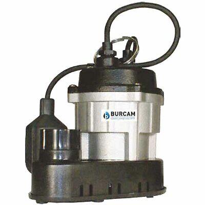 Burcam Pumps 300781 - 12 Hp Cast Iron Thermoplastic Submersible Sump Pump ...