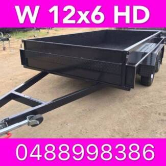 12x6 TANDEM TRAILER HIGH SIDE EXTRA HEAVY DUTY LOCAL MADE 2