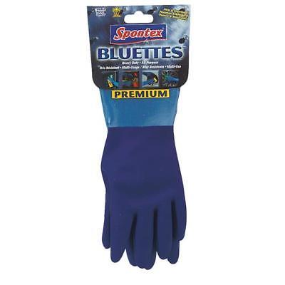 12 Pack Rubber gloves for household use, Spontex Bluette, size -
