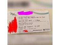 1x Drake boy meets world ticket 22/02/2017 Barclaycard Arena
