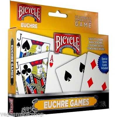 Euchre 2 Deck Set Bicycle Playing Cards Poker Size Card Game Uspcc Racer Back