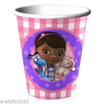 DOC MCSTUFFINS 9oz PAPER CUPS (8)  ~ Birthday Party Supplies Tableware Drinking](Doc Mcstuffins Cups)