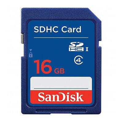 kQ SanDisk 16GB SDHC Speicherkarte Class 4 Highspeed SD HC 16 GB SDSDB-016 Karte