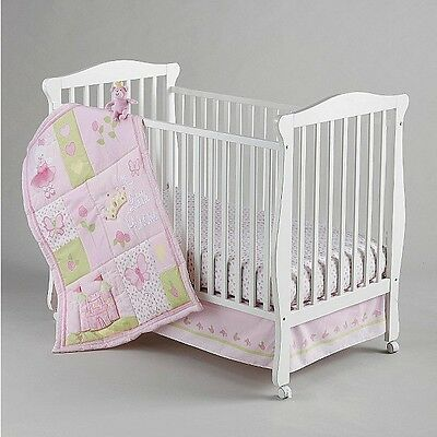 Little Bedding by NoJo Newborn Girl's Princess Rose Four Piece Crib Bedding Set  Four Piece Crib