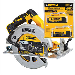 Dewalt saw Dcs570b brushless and two batteries