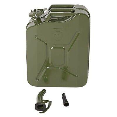 20l Portable American Fuel Oil Petrol Diesel Storage Can Army Green Truck Car