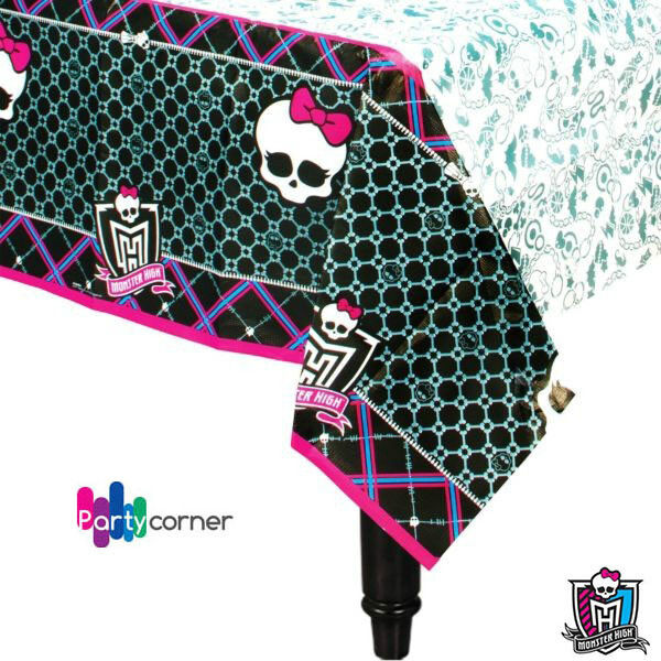 """MONSTER HIGH PARTY SUPPLIES PARTY PAPER TABLE COVER / TABLE CLOTH 54"""" x 96"""""""
