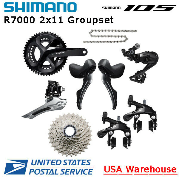 Shimano 105 R7000 2x11 Speed Groupset 50-34T 52-36T 53-39T170/172.5/175mm ROAD