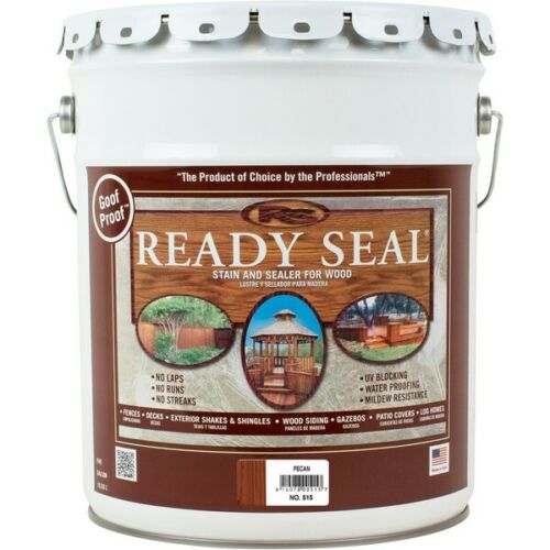 Ready Seal 515 Exterior Wood Stain and Sealer — Pecan, 5 Gallons
