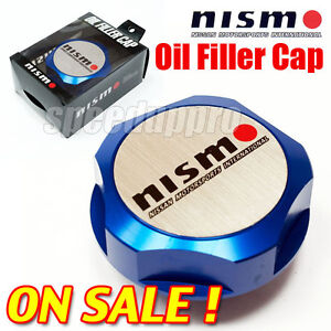 NISMO NISSAN Billet Engine Oil Filler Cap Fuel Tank Cover JDM BLUE