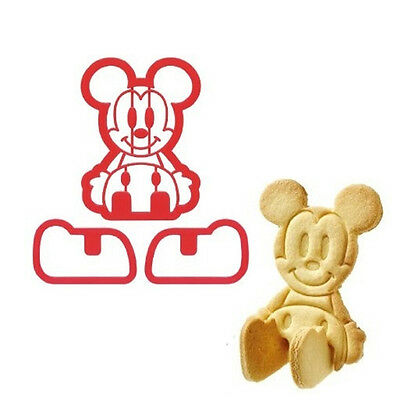 Mickey Mouse Shape Cookie Mold Cute Bread Frame Maker Refreshments Kids Snack