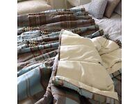 Stunning taffeta interlined full length curtains
