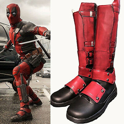 Deadpool X-Men Stiefel Schuhe shoes boots Kostüme Cosplay Costume Zapato - Deadpool Kostüm Schuhe