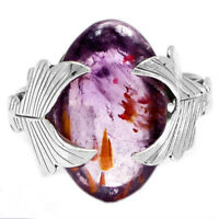 CACOXENITE SUPER 7 MINERAL, MELODY STONE 925 SILVER Ring Sz 7