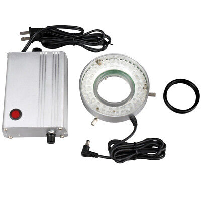 Amscope 60 Led Solid Metal Microscope Ring Light With Heavy-duty Control Box