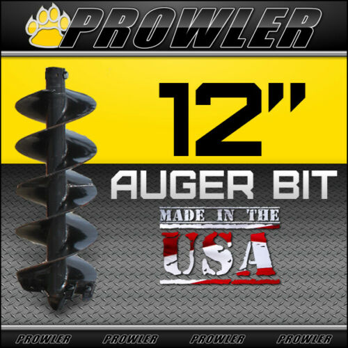 "12"" Auger Bit w/ Round Collar For Skid Steer Loaders 4"