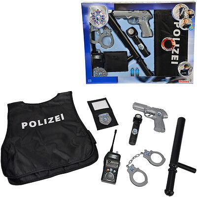 Simba Polizei Einsatz-Set mit Schutzweste Polizeiset Verkleiden Pistole Kinder