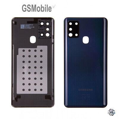 Tapa Bateria Lente Camara Lens Battery Cover Black Samsung A21s A217F ORIGINAL