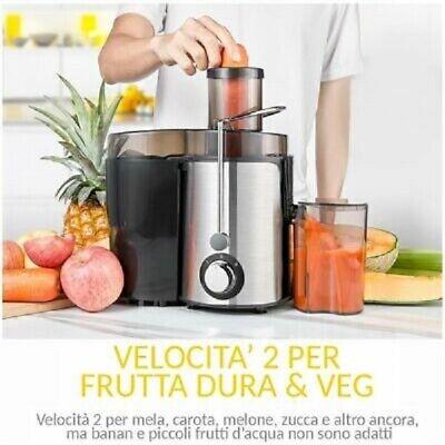 CENTRIFUGA ESTRATTORE DI SUCCO PER FRUTTA E VERDURA 850 W 850W DSTOR