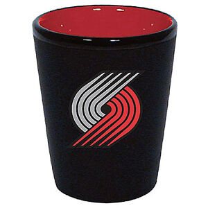 Portland Trail Blazers Two Tone Black Ceramic Shot Glass