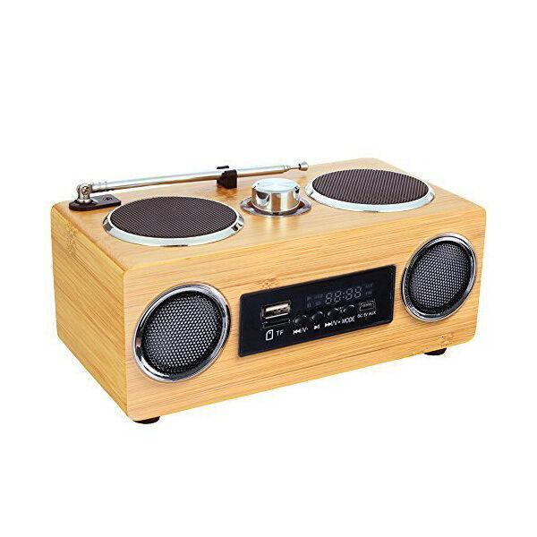 Ecofriendly Mini Portable Hi-fi Bamboo Wood Boombox Sound Card Speaker PK