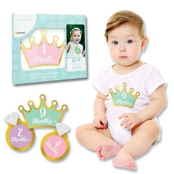 Little Princess First Year Milestone Belly Stickers Set of 12