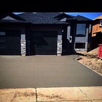 Driveways sidewalks garages concrete etc
