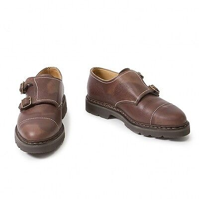 (SALE) JohnLobb WILLIAM Double Monk Leather Shoes Size Around US 7(K-18240)