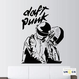 Daft punk music studio wall art stickers decals vinyl for Daft punk mural
