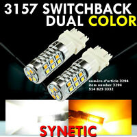 1x 3157 Dual Color Switchback White/ Amber Yellow LED Turn Signa