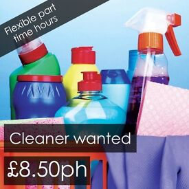 Cleaner wanted - £8.50ph - self employed part time