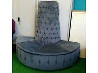 Velvet chesterfield donut sofa