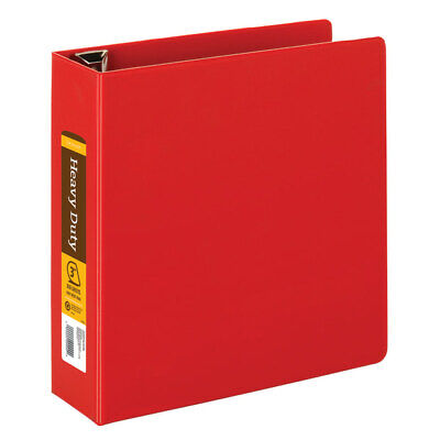 Heavy-duty Easy Open D-ring Binder By Inplace 3 Rings 8 12 X 11 Red