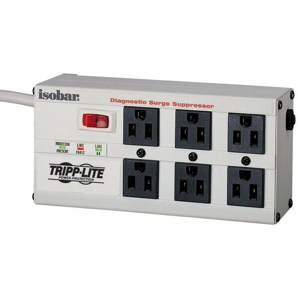 Tripp-lit-new-isobar6ultra _ Isobar Surge Protector Metal 6 Outlet 6 F