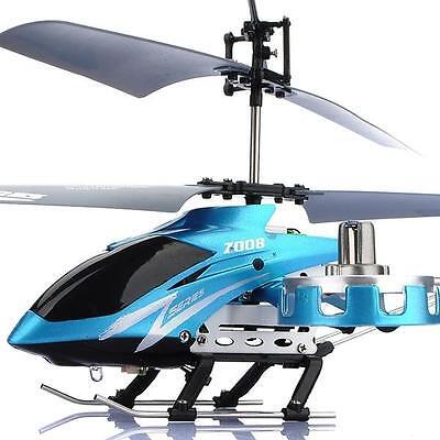 AVATAR Z008 4CH IR Metal RC Remote Control Helicopter LED Light GYRO RTF Blue