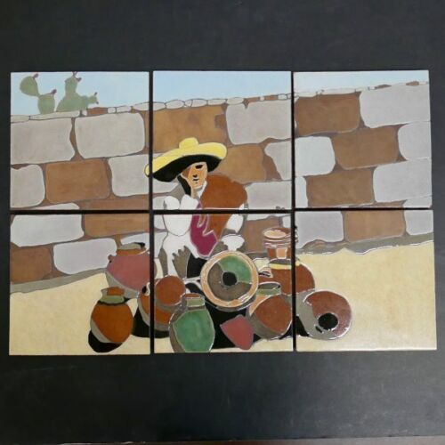 Lamosa 6-Tile Scenic Panel Vintage Mexico