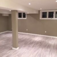 Open concept basement for rent March 15