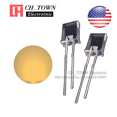 100pcs 2x5x7mm Water Clear Warm White Light Rectangle Rectangular Led Diodes Usa