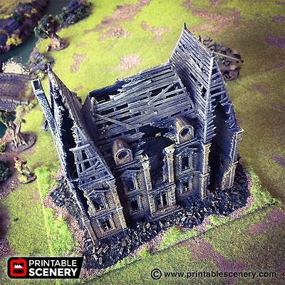 Ruined Chateau  28mm Tabletop Games Dwarven Forge D&D Terrain Wargaming