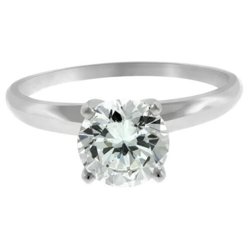 1.10 Ct Round Cut Solitaire Diamond Engagement Ring 14k White Gold F Color Vvs2
