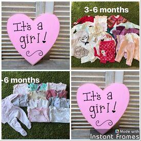 Baby girl 3-6 month bundle