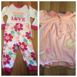 6 + 9 month baby girl clothes $10