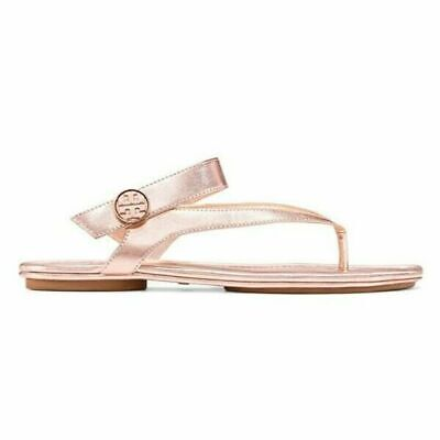 Tory Burch Women Sandals Minnie Travel Rose Gold Leather Slingback $198