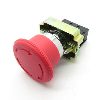 22mm Emergency Stop Red Mushroom Push Button Switch Nc Latching Xb2 10a 600v